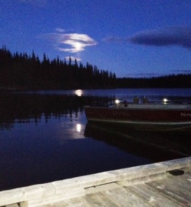 nimpo lake night moon reflection